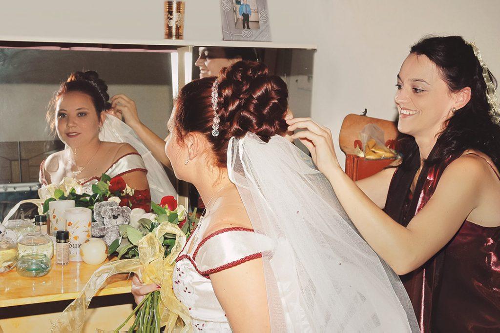 Wedding Photograph of bride getting ready