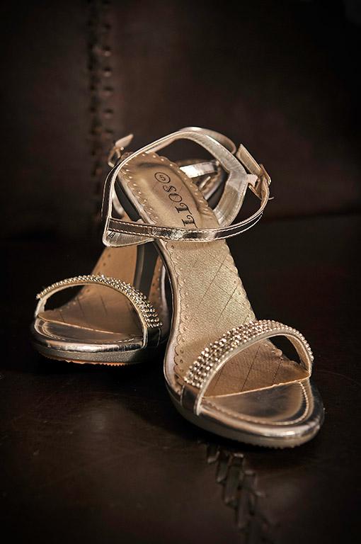 Wedding Photograph of brides shoes