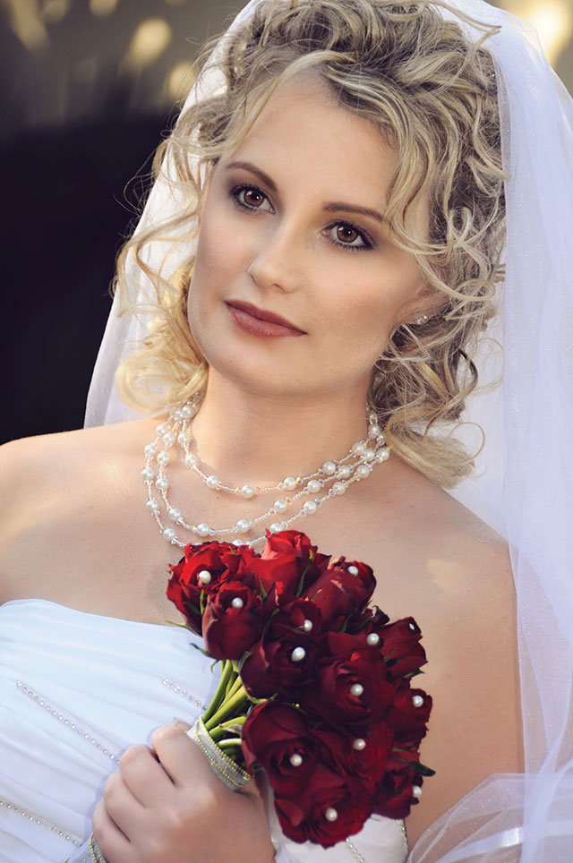 Wedding Photograph of Bride holding flowers
