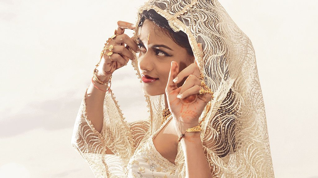 Garden Route Wedding Photograph of Indian bride